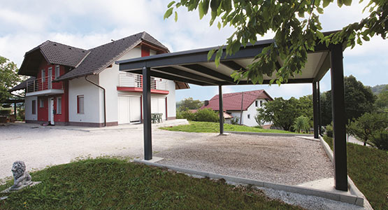 carport roofs supported by columns